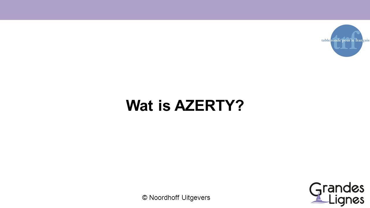Wat is AZERTY