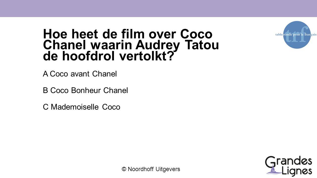 Hoe heet de film over Coco Chanel waarin Audrey Tatou de hoofdrol vertolkt