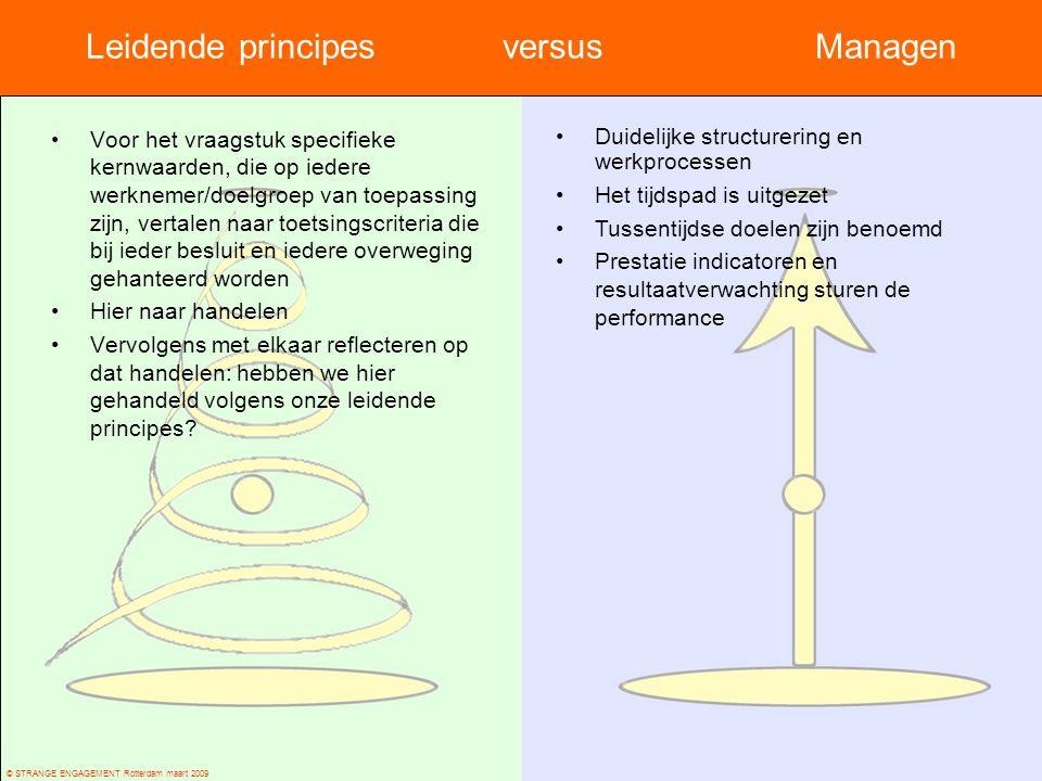 Leidende principes versus Managen