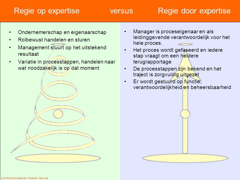 Regie op expertise versus Regie door expertise