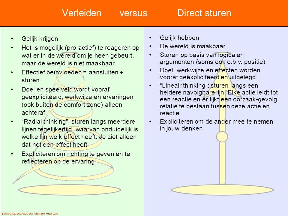 Verleiden versus Direct sturen