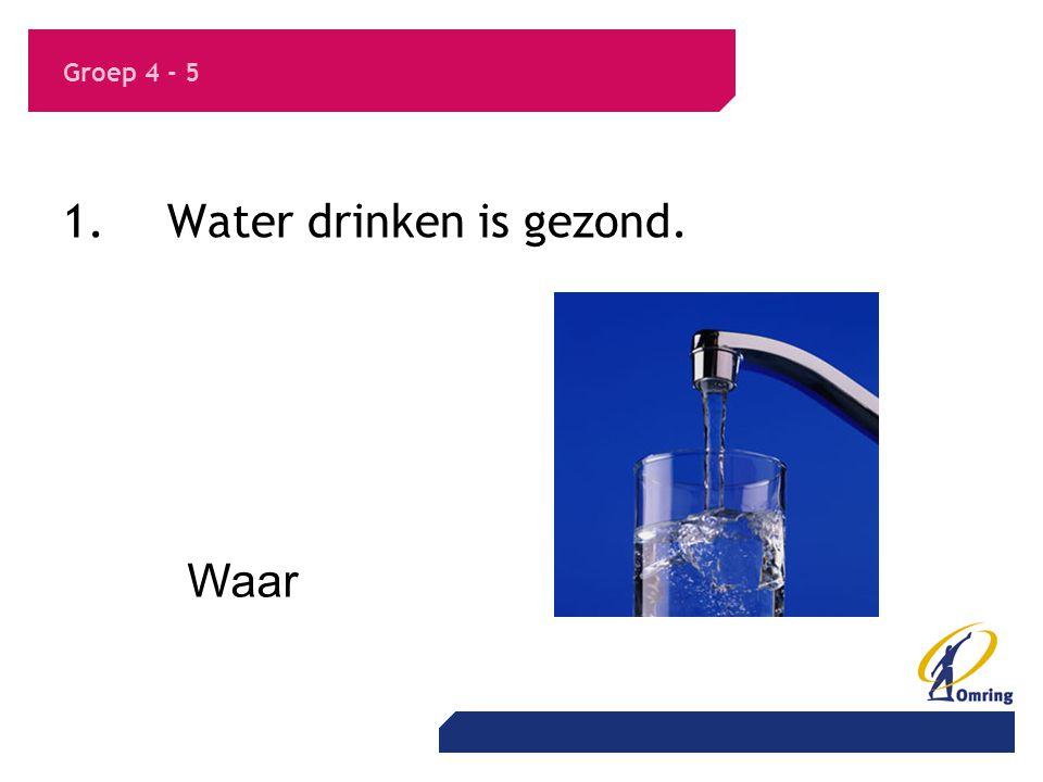 1. Water drinken is gezond.