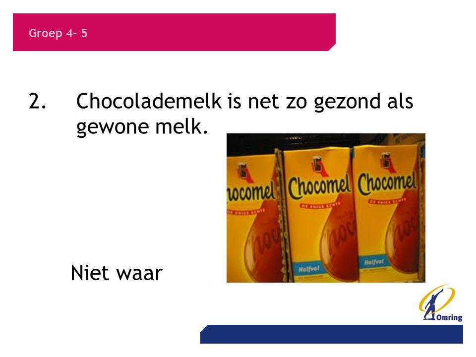 2. Chocolademelk is net zo gezond als gewone melk.