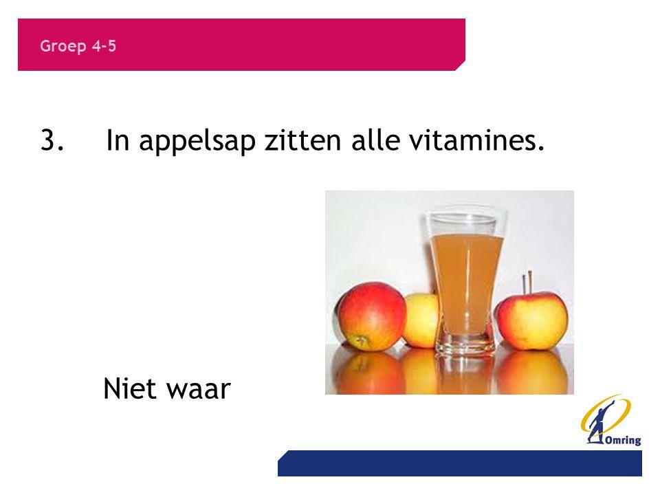 3. In appelsap zitten alle vitamines.