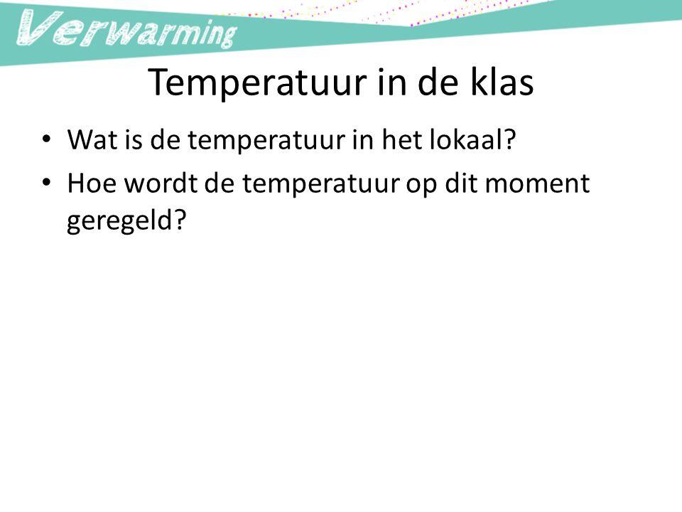 Temperatuur in de klas Wat is de temperatuur in het lokaal