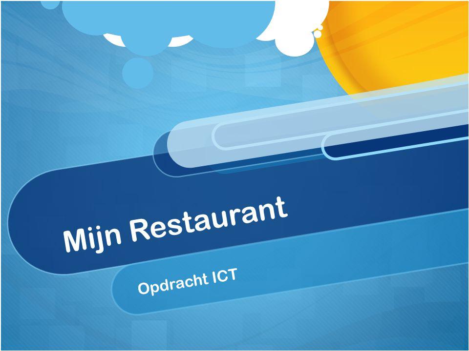 Mijn Restaurant Opdracht ICT