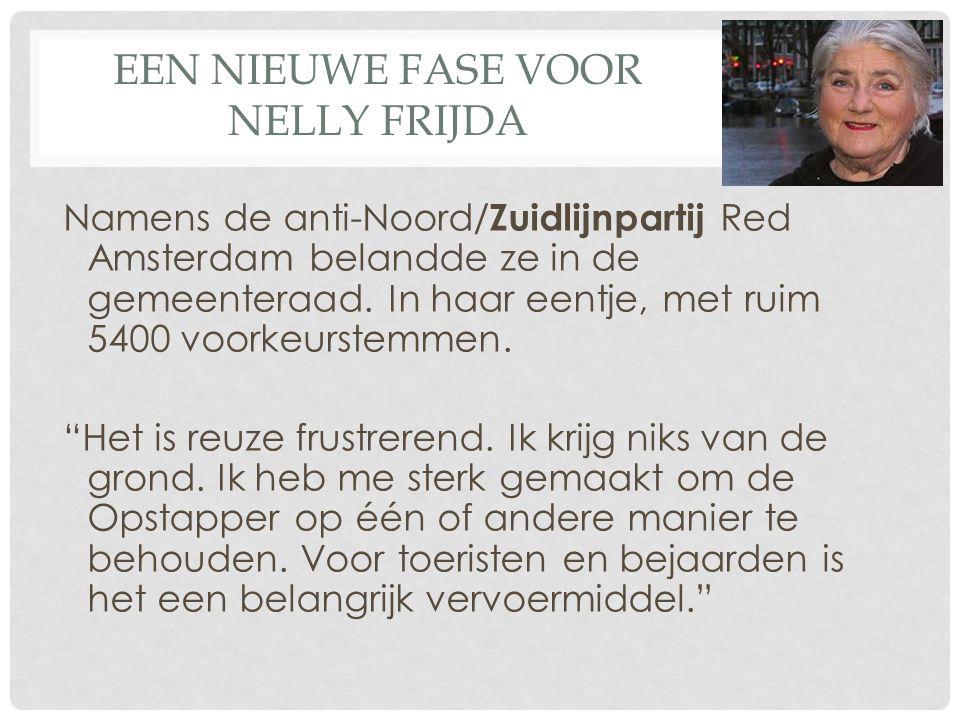 Een nieuwe fase voor Nelly Frijda