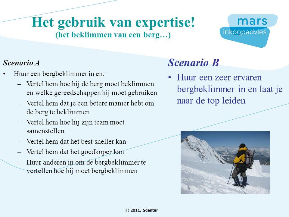 Het gebruik van expertise! (het beklimmen van een berg…)