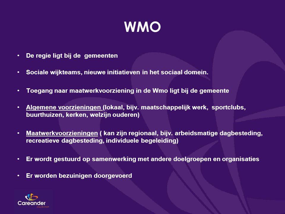 WMO De regie ligt bij de gemeenten