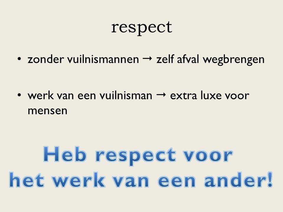 Heb respect voor het werk van een ander!