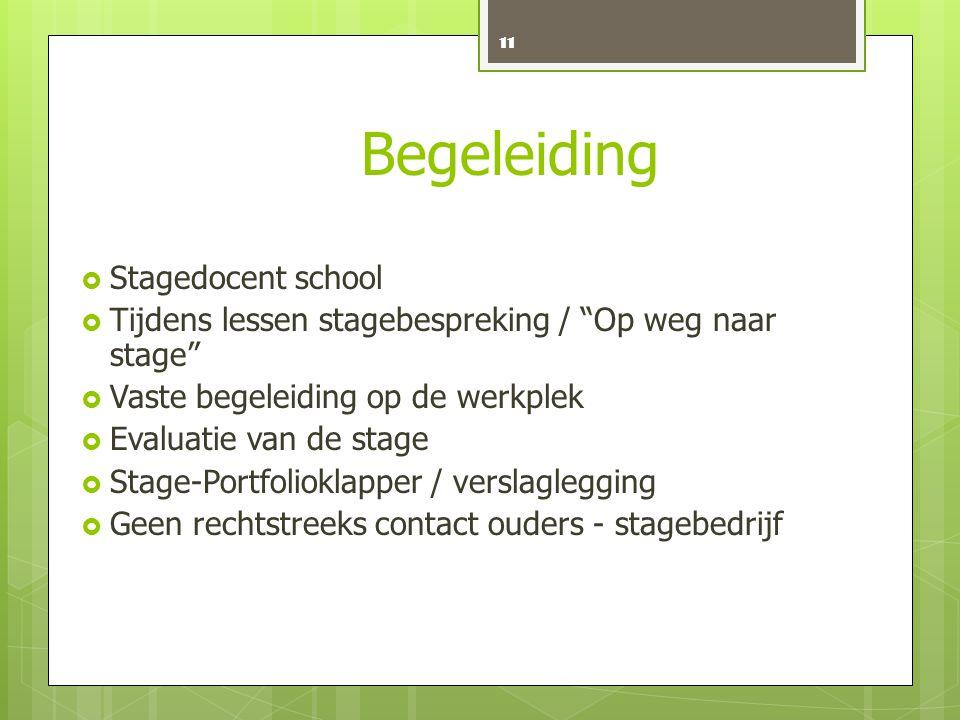 Begeleiding Stagedocent school