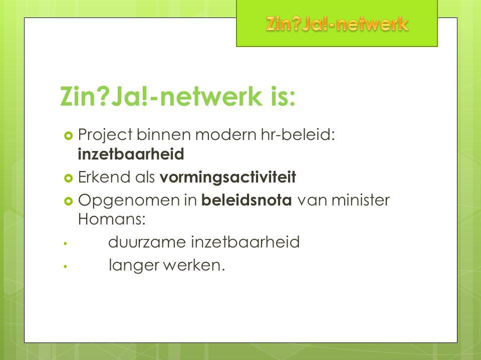 Zin Ja!-netwerk is: Zin Ja!-netwerk