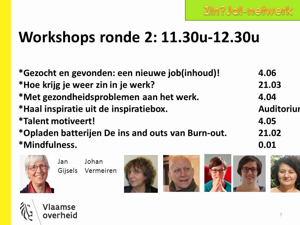 Workshops ronde 2: 11.30u-12.30u Zin Ja!-netwerk