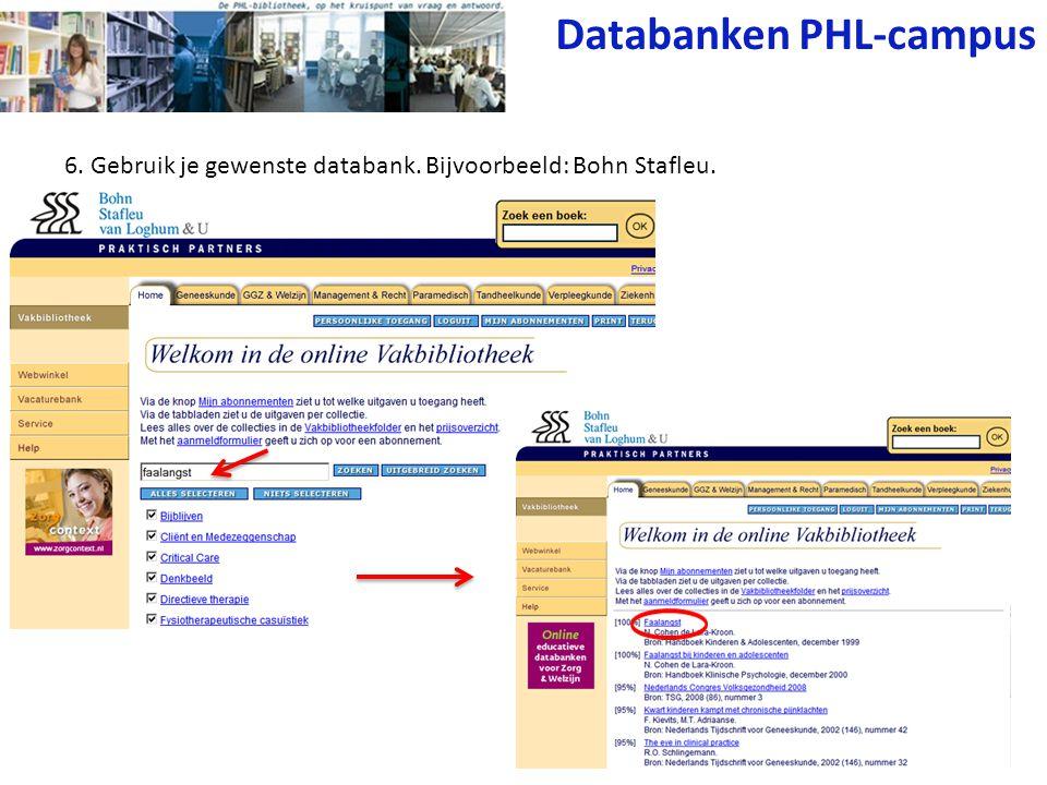 Databanken PHL-campus
