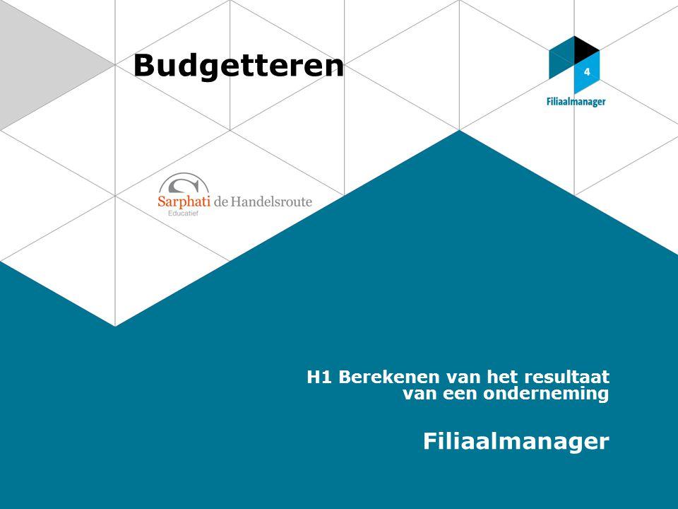 Budgetteren Filiaalmanager