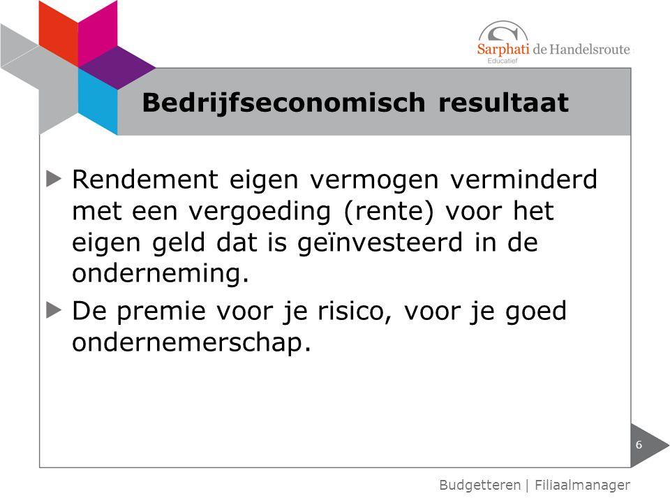 Bedrijfseconomisch resultaat