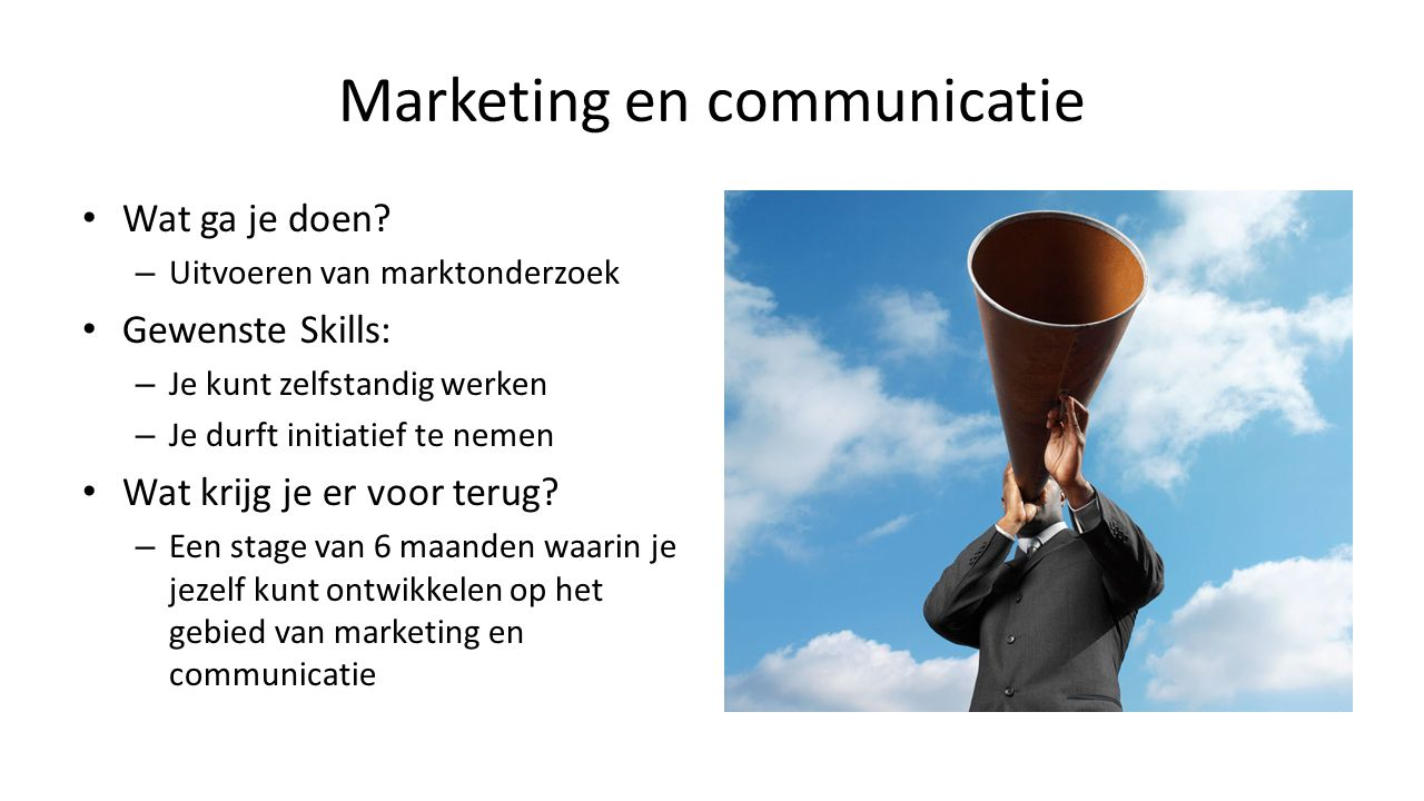 Marketing en communicatie
