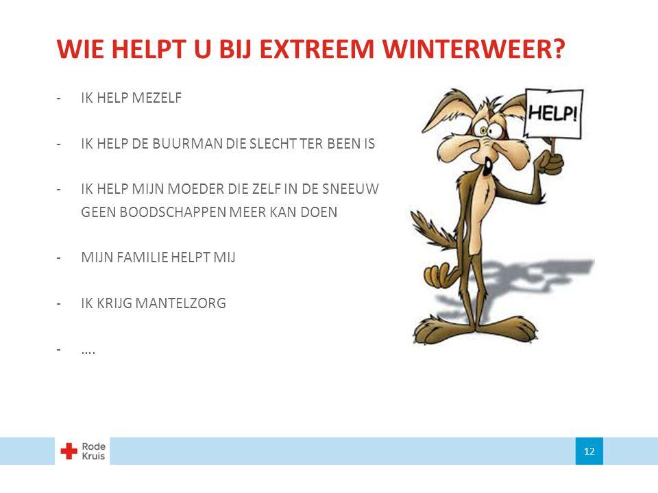 WIE HELPT U BIJ EXTREEM WINTERWEER