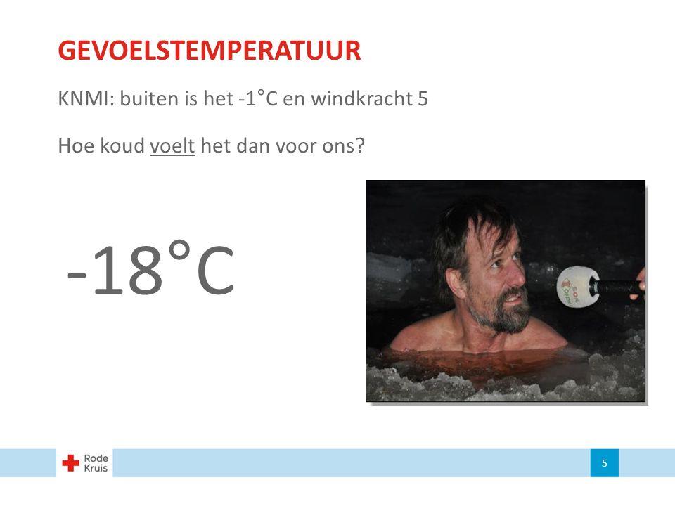 -18°C GEVOELSTEMPERATUUR