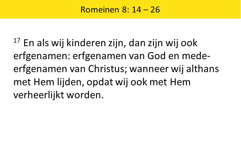Romeinen 8: 14 – 26