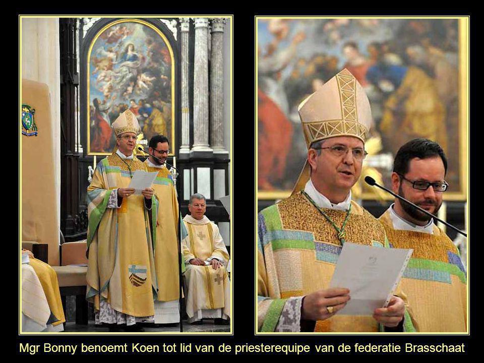 Mgr Bonny benoemt Koen tot lid van de priesterequipe van de federatie Brasschaat