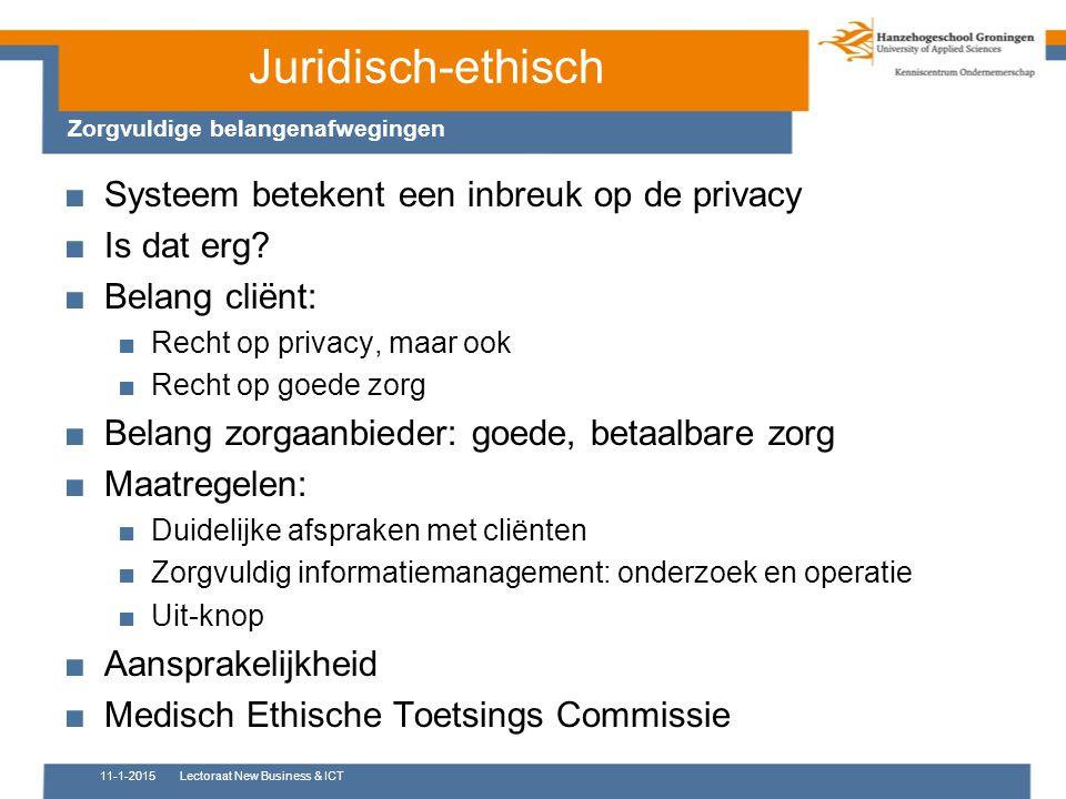 Juridisch-ethisch Systeem betekent een inbreuk op de privacy