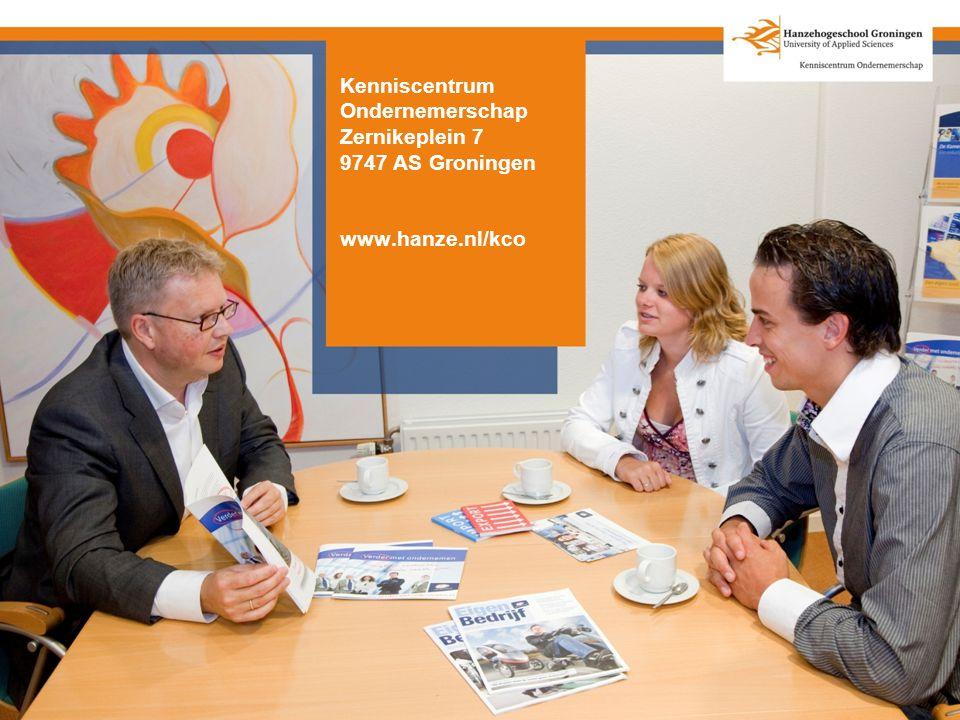 Kenniscentrum Ondernemerschap Zernikeplein 7 9747 AS Groningen www