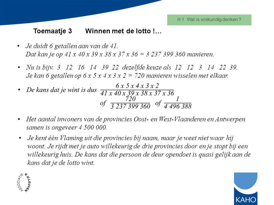 H 1 Wat is wiskundig denken