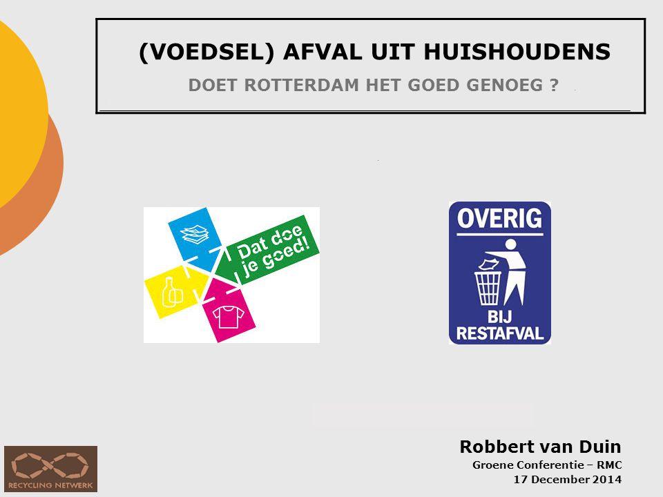 1. Hoeveelheid afval per inwoner per jaar (HHA: afval van gemiddeld huishouden in NL, excl. grof afval)