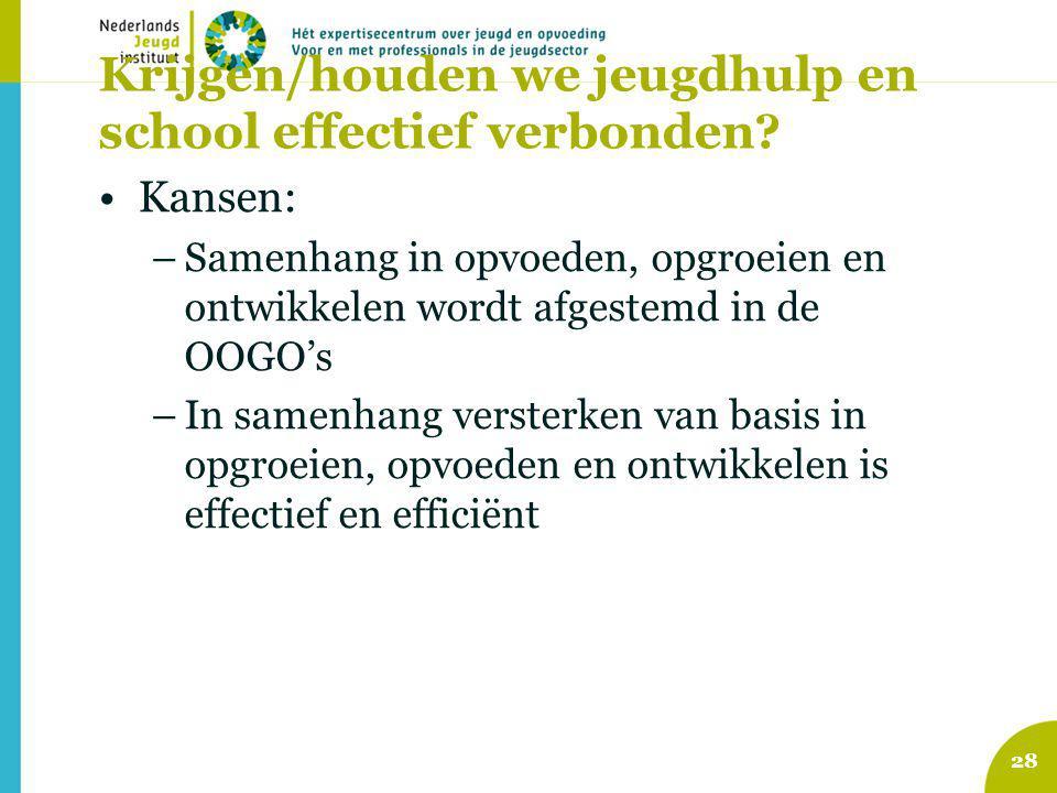 Krijgen/houden we jeugdhulp en school effectief verbonden