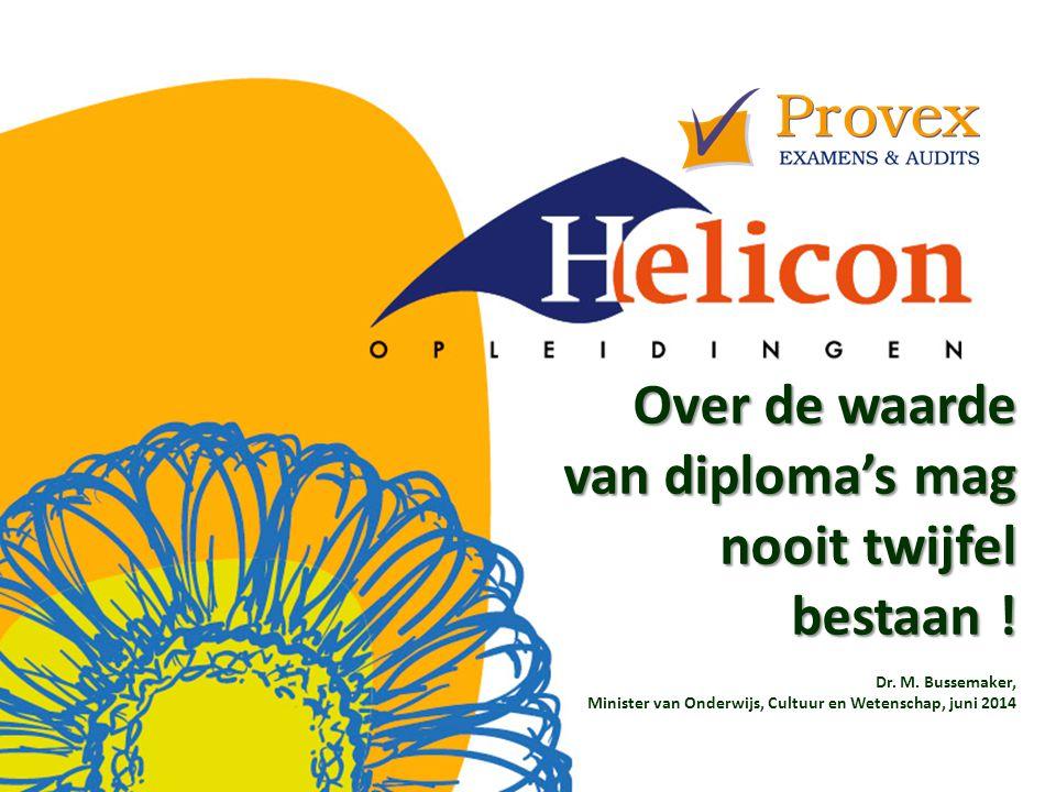 Over de waarde van diploma's mag nooit twijfel bestaan !