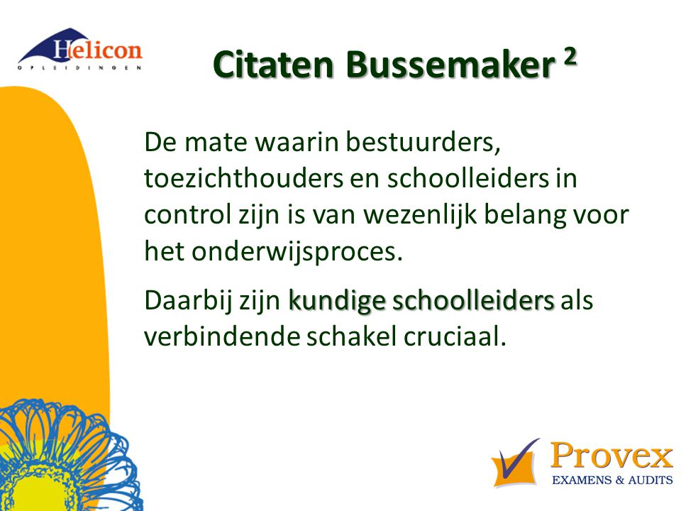 Helicon Opleidingen april '17. Citaten Bussemaker 2.
