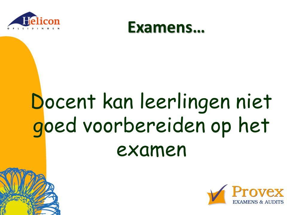 Docent kan leerlingen niet goed voorbereiden op het examen