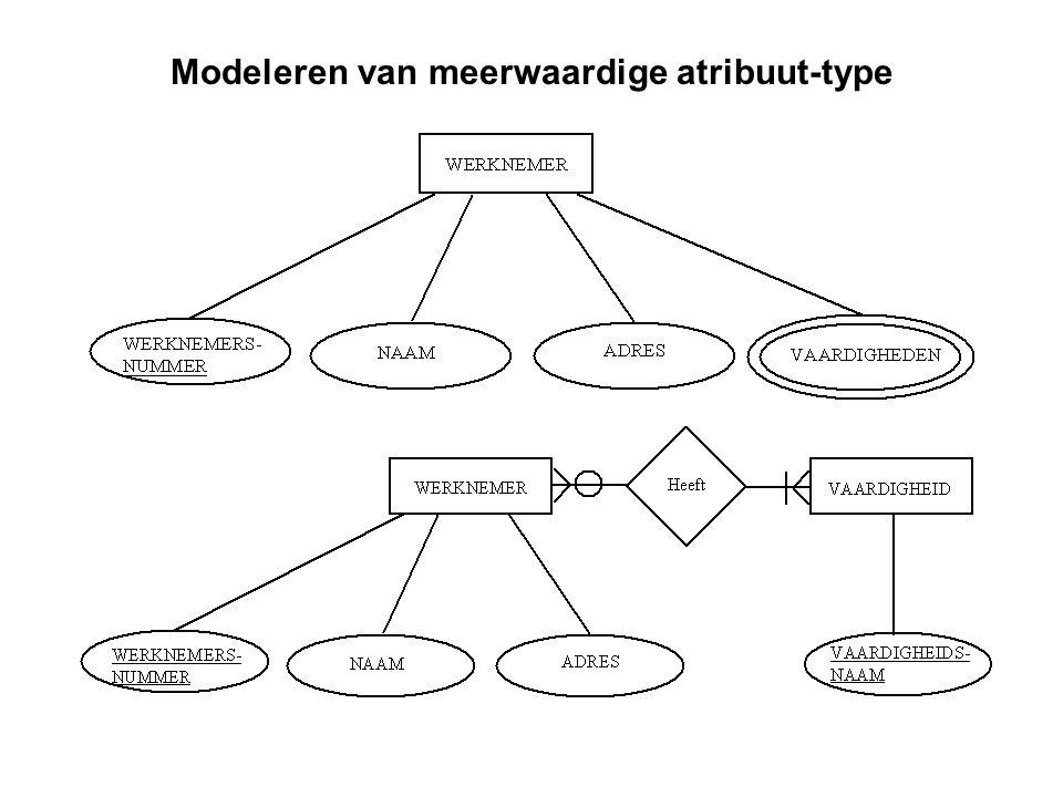 Modeleren van meerwaardige atribuut-type