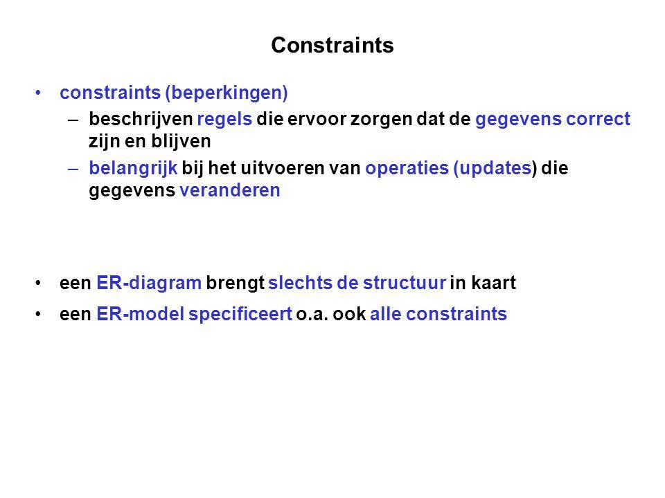 Constraints constraints (beperkingen)