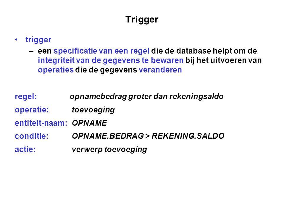 Trigger trigger.