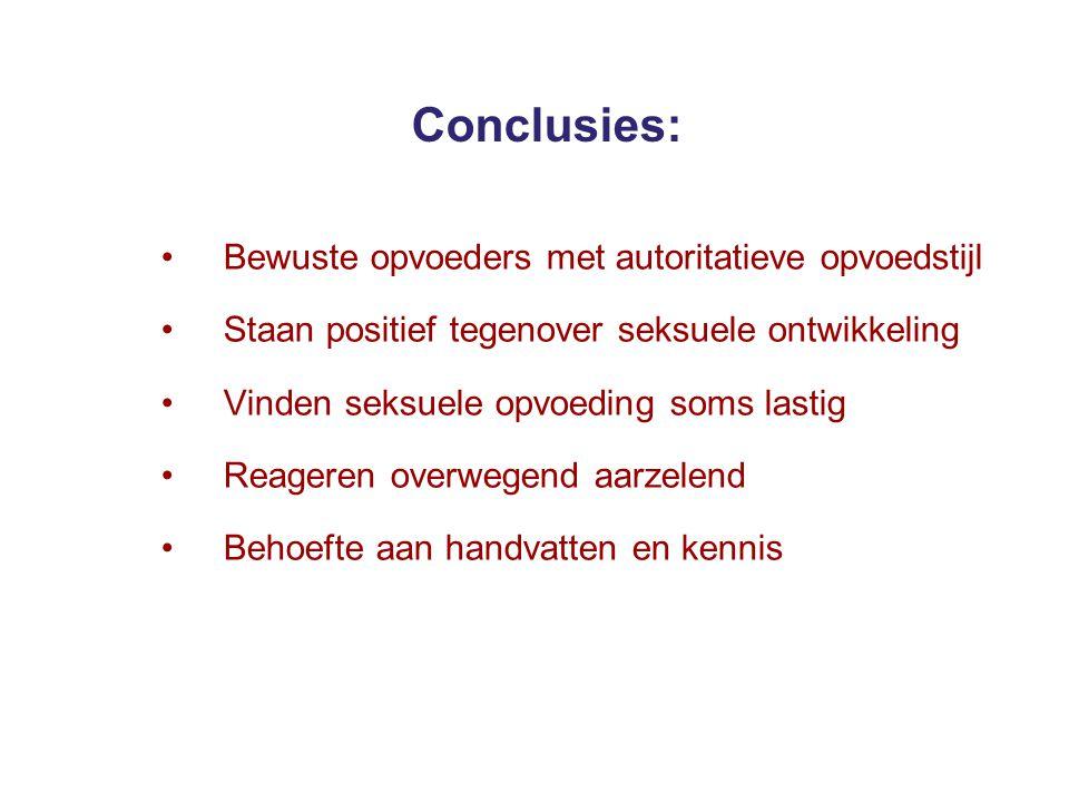 Conclusies: Bewuste opvoeders met autoritatieve opvoedstijl