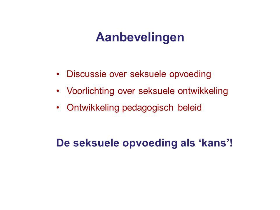 Aanbevelingen De seksuele opvoeding als 'kans'!