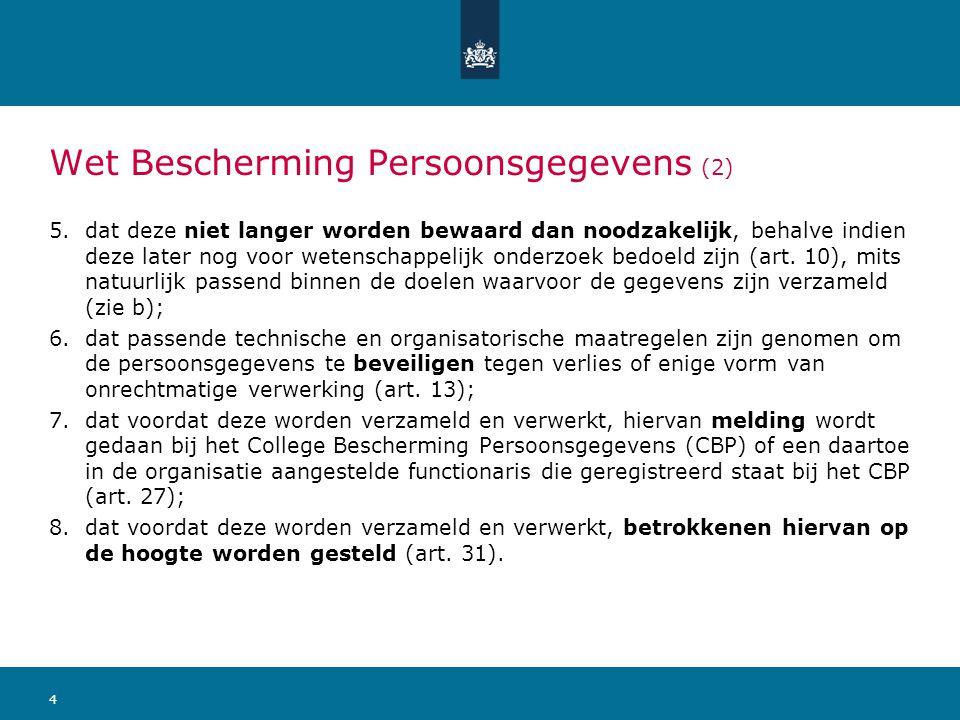 Wet Bescherming Persoonsgegevens (2)