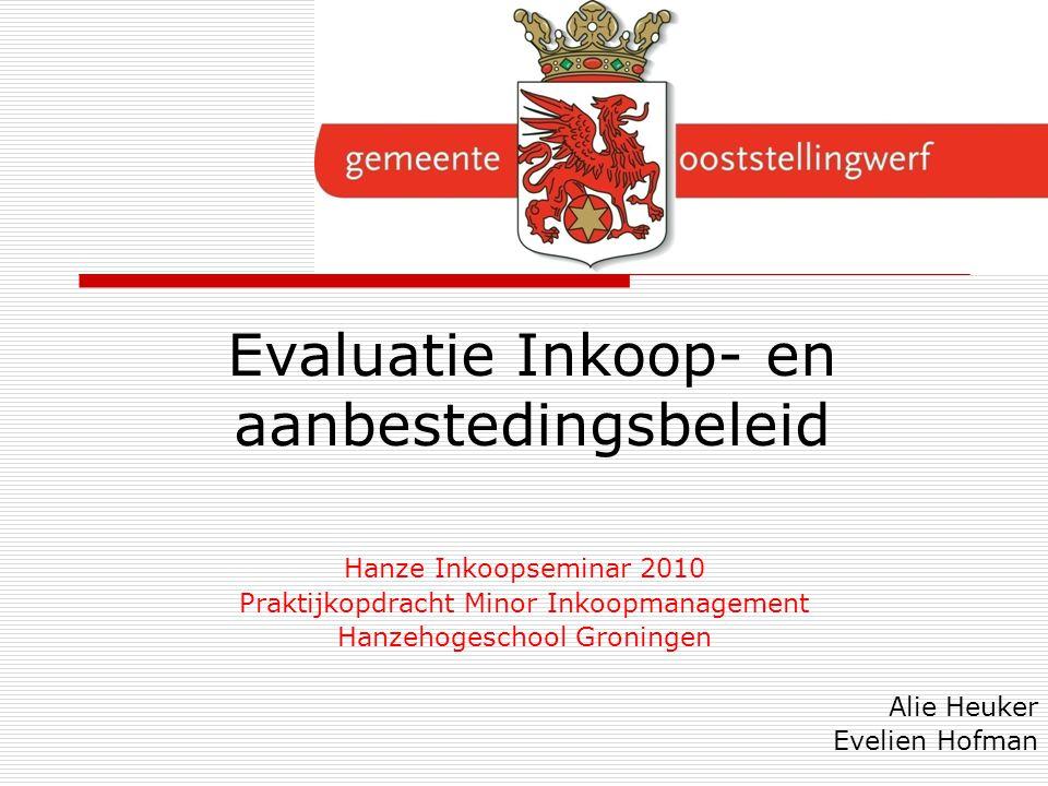 Evaluatie Inkoop- en aanbestedingsbeleid
