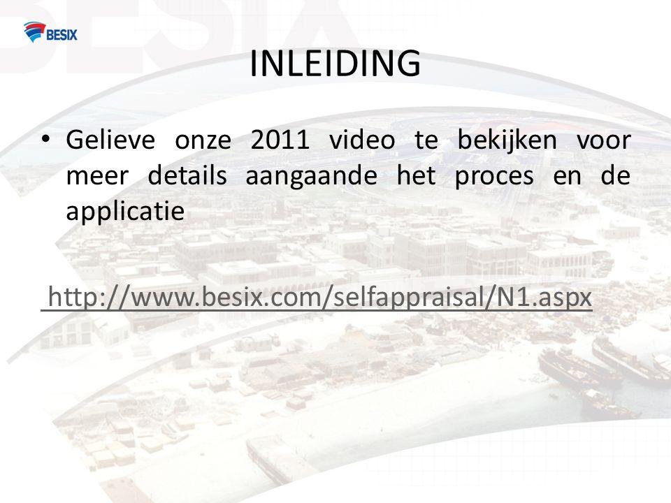 INLEIDING Gelieve onze 2011 video te bekijken voor meer details aangaande het proces en de applicatie.