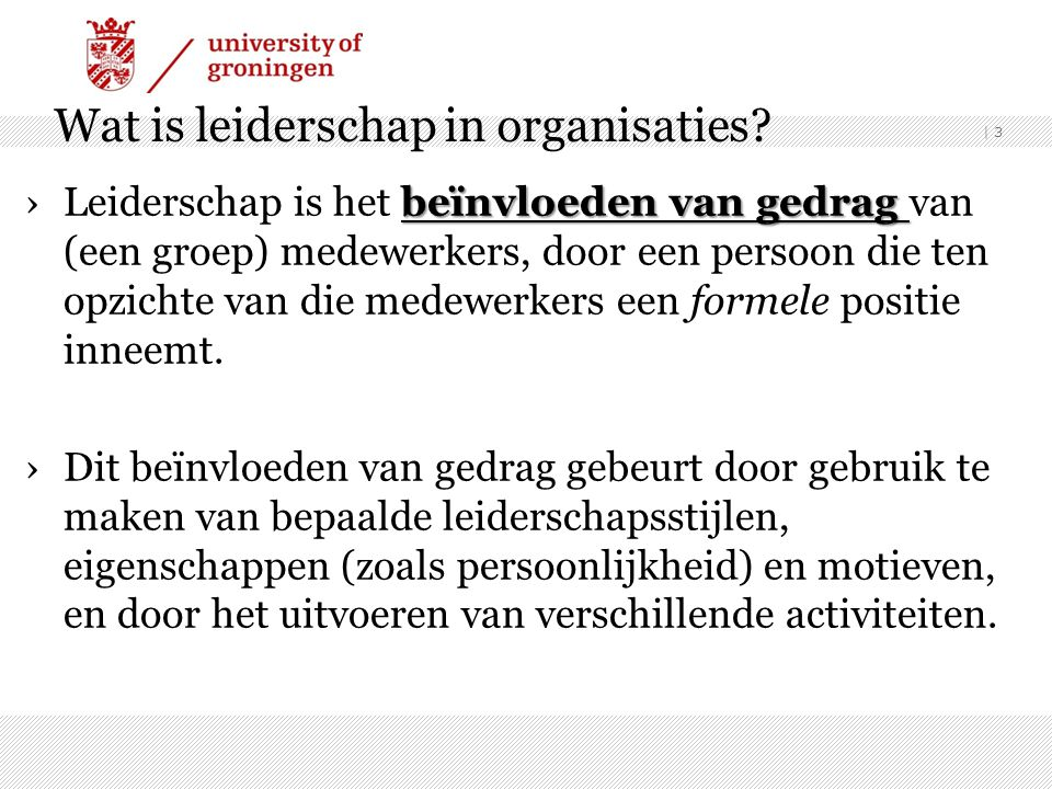 Wat is leiderschap in organisaties