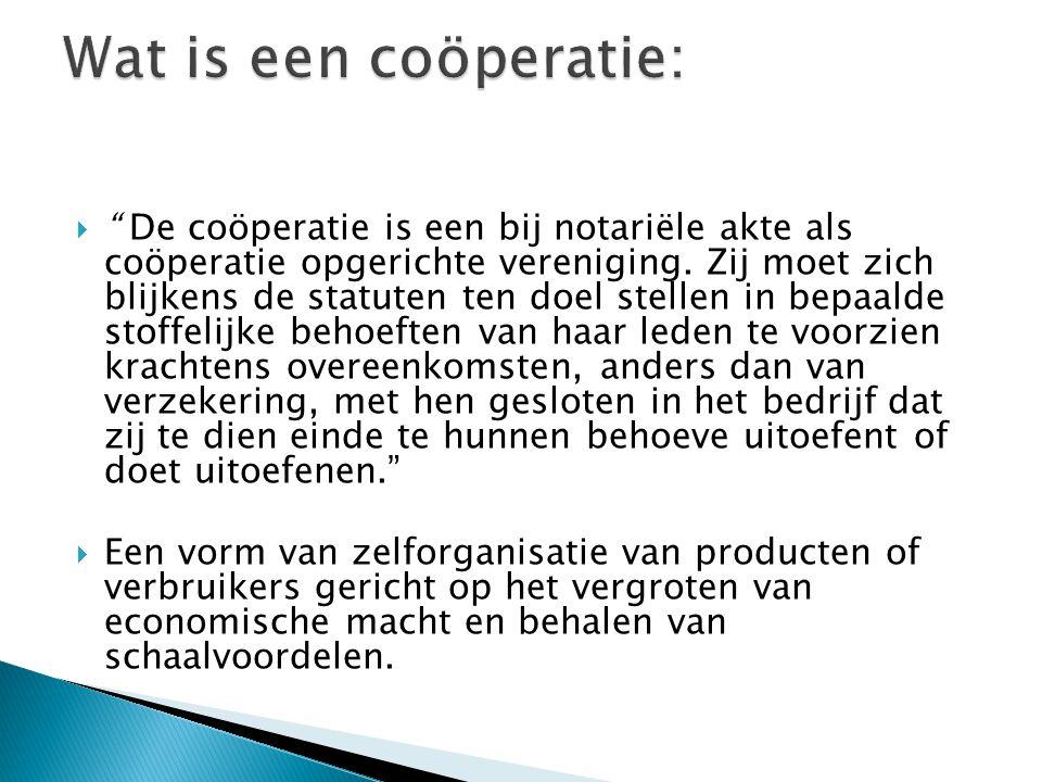 Wat is een coöperatie: