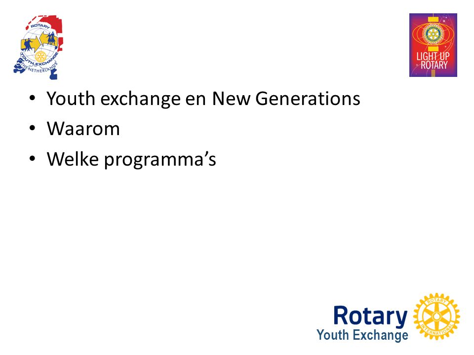 Youth exchange en New Generations