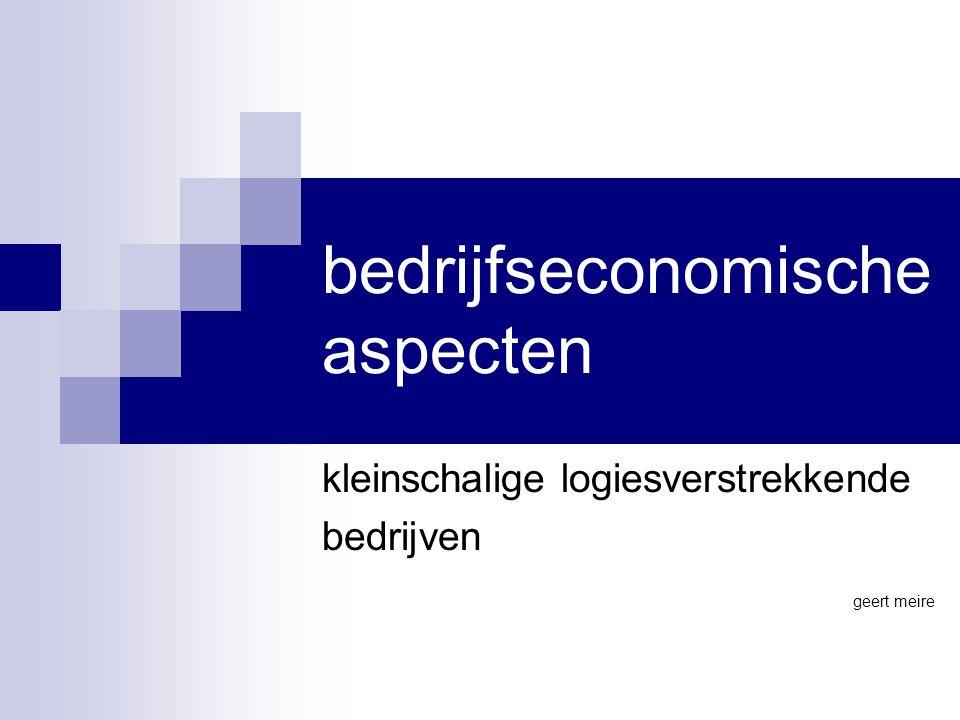 bedrijfseconomische aspecten