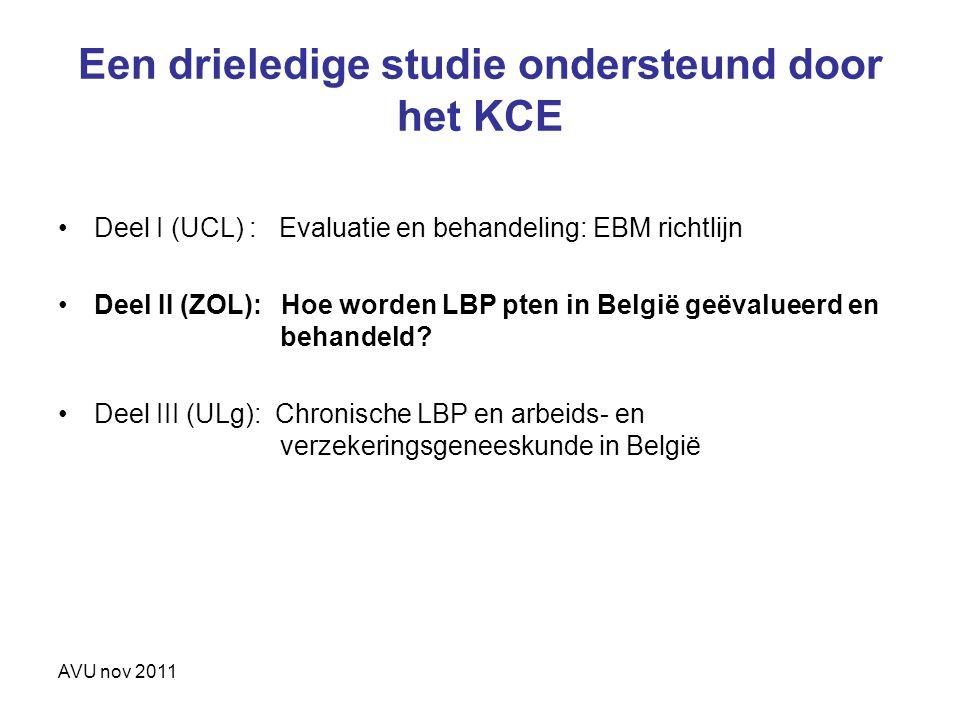 Een drieledige studie ondersteund door het KCE