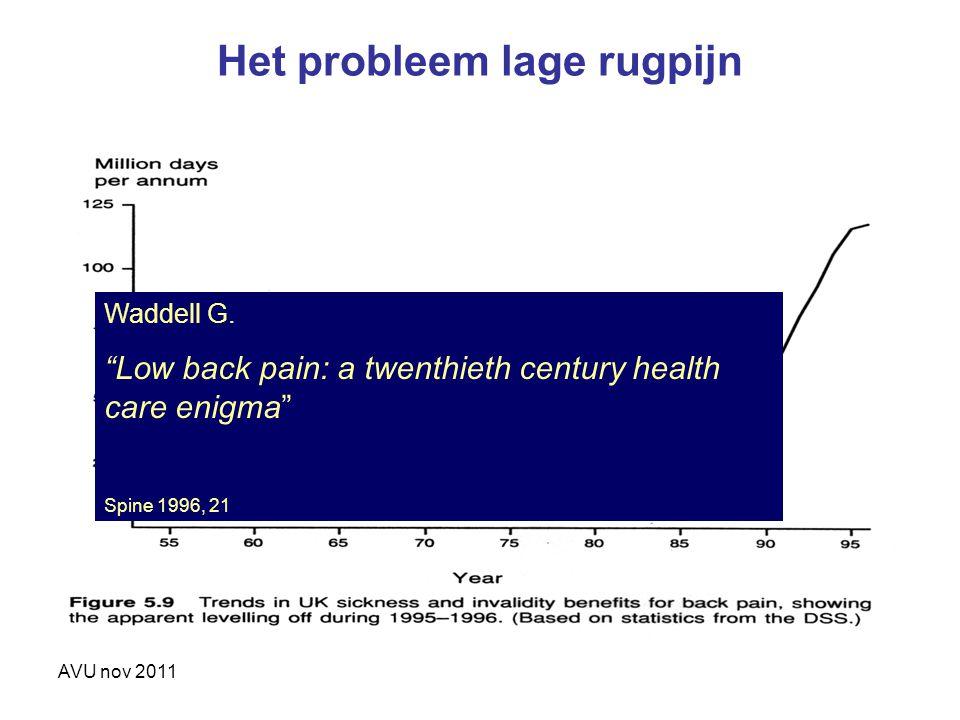 Het probleem lage rugpijn