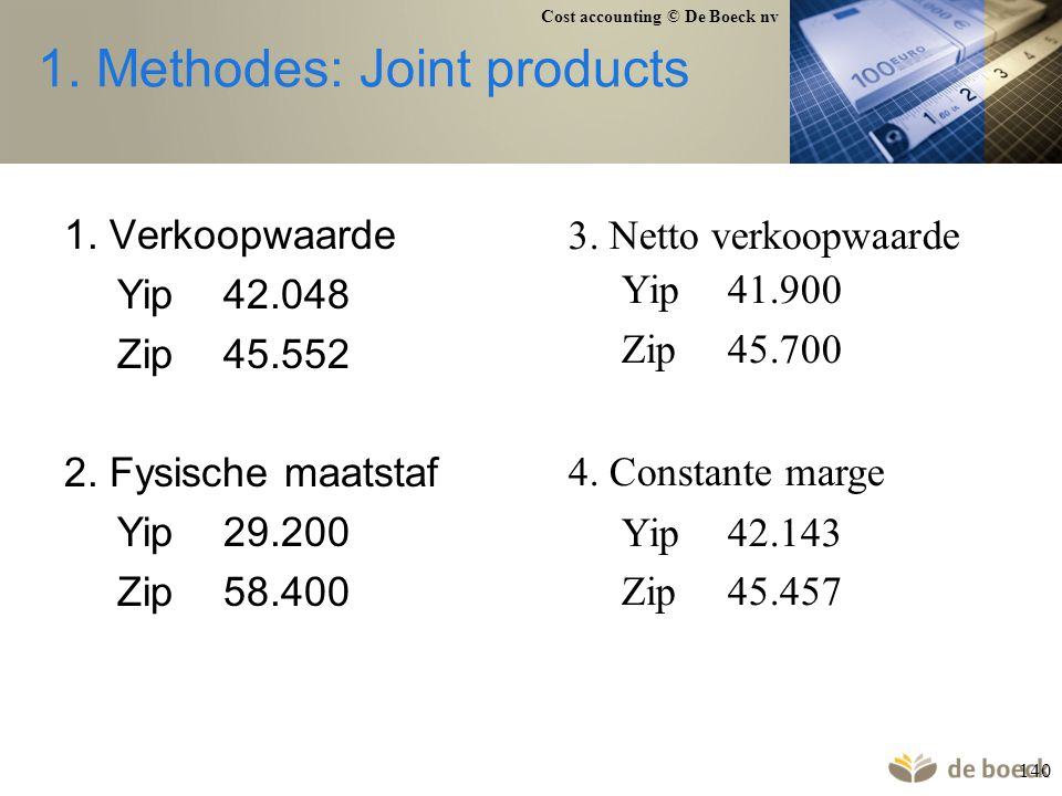 1. Methodes: Joint products