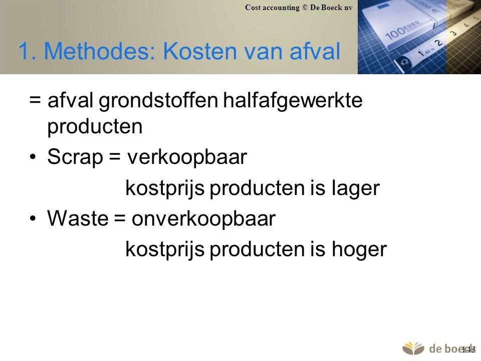 1. Methodes: Kosten van afval