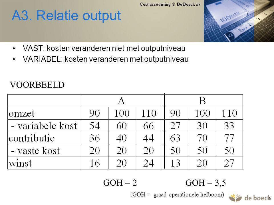 A3. Relatie output VOORBEELD